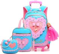 Meetbelify Gilrs Rolling Backpack Backpacks with Wheels for Girls for School Girls Roller Backpack on Wheels