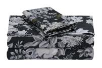 Tribeca Living VERN4PSSFUCG Extra Deep Pocket Sheet Set, Full, Vernazza Charcoal/Multi