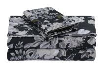 Tribeca Living VERN4PSSKICG Extra Deep Pocket Sheet Set, King, Vernazza Charcoal/Multi
