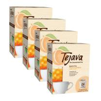 Tejava Unsweetened Black Tea Pods, Natural Peach Flavor, 96Count