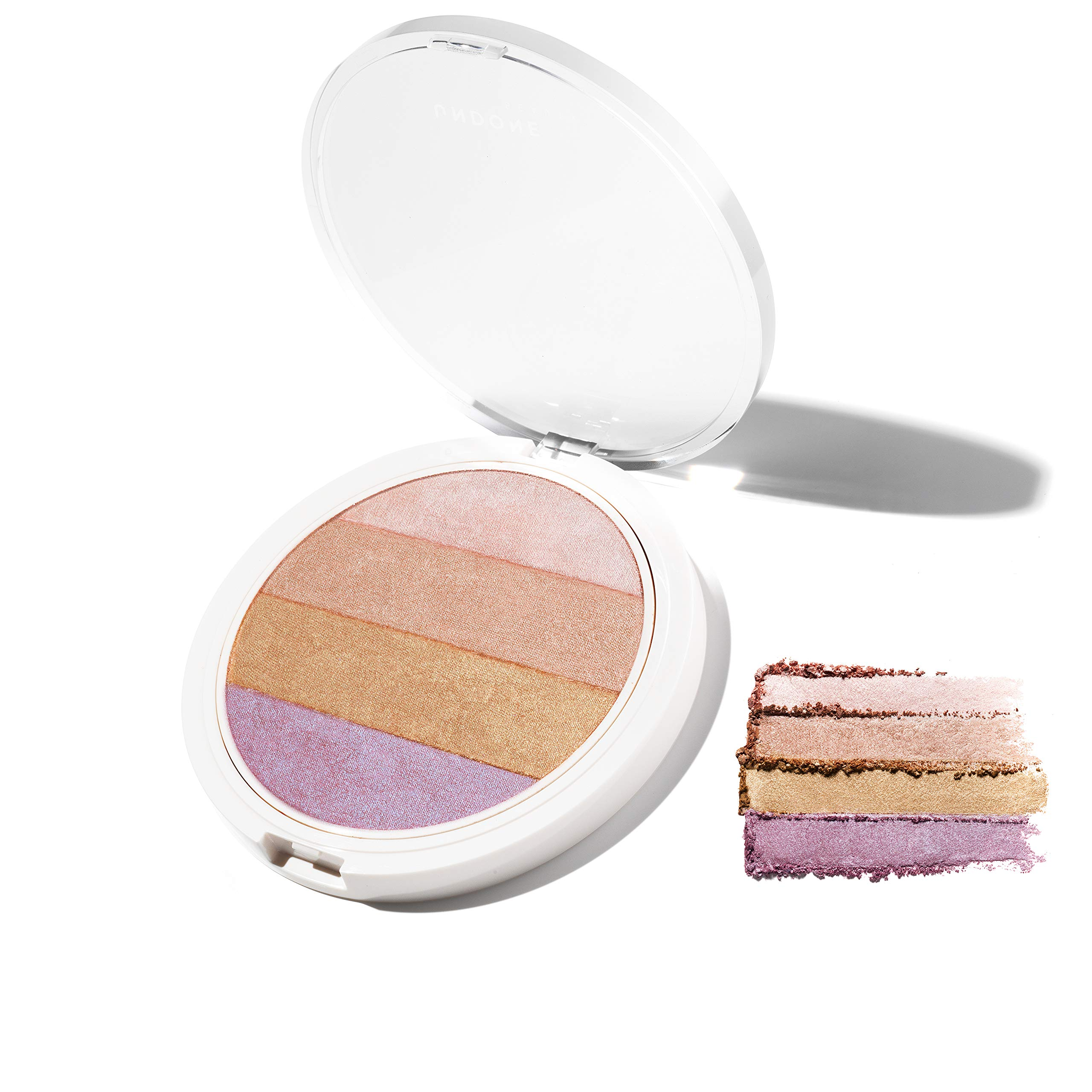 4-in-1 Highlighting Palette. Coconut Extract for Dewy, Radiant Glow – UNDONE BEAUTY Nonzer. Blendable Powder for Highlighting, Contouring & Strobing for Face & Body. Vegan & Cruelty Free. 4-IN-1