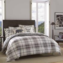Eddie Bauer Alder Plaid Comforter Set, King, Charcoal