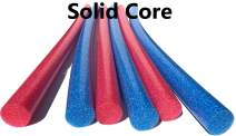 """Solid Core Extra Long 60"""" Swim Noodles 6 Pack Deluxe Solid Core Foam Noodles (Red Blue)"""