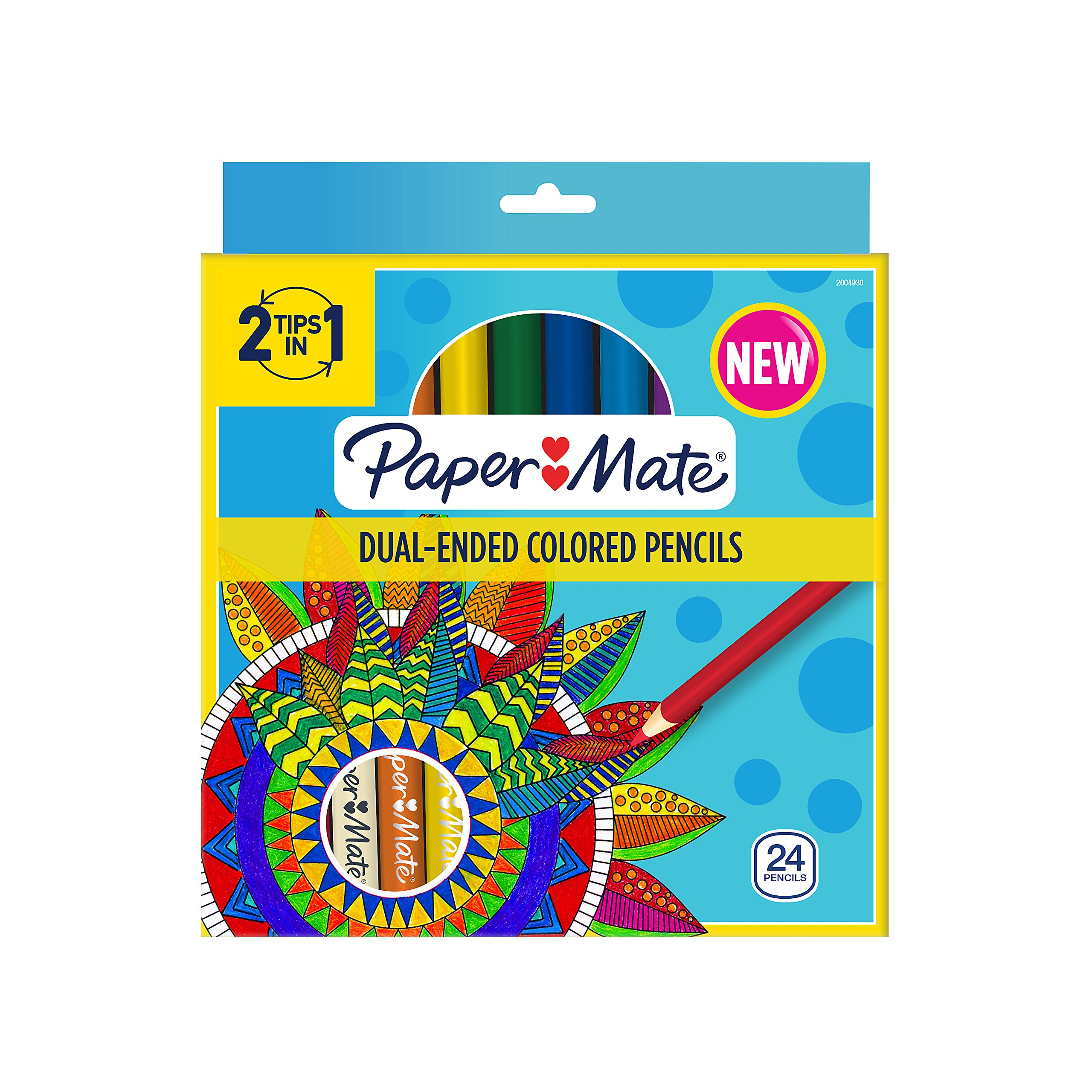 Paper Mate Dual Ended Colored Pencils, Assorted Colors, Pre Sharpened, 24 Count