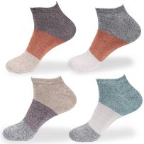 Women's Rayon from Bamboo Fiber Stripe Style Sports Superior Wicking Athletic Casual Ankle Socks