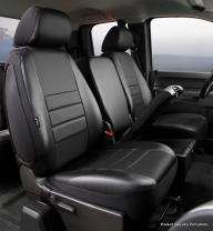 Fia SL67-36 BLK/BLK Custom Fit Front Seat Cover Split Seat 40/20/40 - Leatherette (Solid Black)