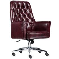 Flash Furniture Mid-Back Traditional Tufted Burgundy LeatherSoft Executive Swivel Office Chair with Arms