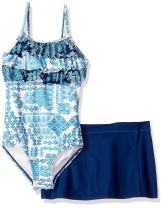 Tommy Bahama Girls' 1-Piece Swimsuit and Sarong