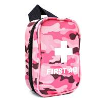 RISEN Small Camo First Aid Kit with 53 Piece Medical Supplies - Ideal Emergency Mini Kit for Outdoor Hiking Camping Backpacking Travel