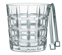 Marquis By Waterford Crosby Ice Bucket, 8.4 x 8.3 x 11.9, Clear Crystalline