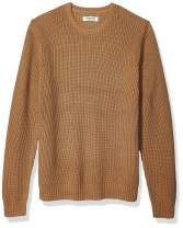 Amazon Brand - Goodthreads Men's Soft Cotton Rib Stitch Crewneck Sweater