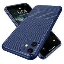 Doudounes iPhone 11 Case, Air Armor Stylish Flexible TPU Cover Shell [Hidden Buttons] [Stereo Sound] [Anti-Scratch] with Shockproof Bumper Case Compatible for iPhone 11 (Blue)