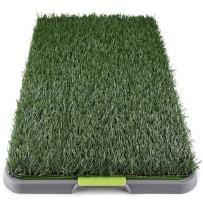 Dog Grass Pee Pad Potty - Artificial Grass Patch for Dogs - Pet Litter Box Training Pads Best for Puppy Indoor Turf - Fresh Fake Porch Lawn Toilet Mat Bathroom Tray - Doggie Trainer Balcony Patio Mats