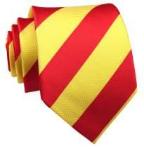Secdtie Men's Large Striped Jacquard Woven Silk Tie Formal Business Necktie