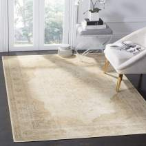 "Safavieh Vintage Premium Collection VTG122-3440 Transitional Oriental Cream Distressed Silky Viscose Area Rug (3'3"" x 5'7"")"