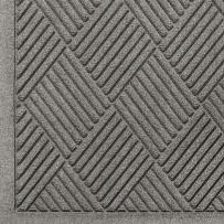 "M+A Matting 221 Waterhog Fashion Diamond Polypropylene Fiber Entrance Indoor/Outdoor Floor Mat, SBR Rubber Backing, 10' Length x 3' Width, 3/8"" Thick, Medium Grey"