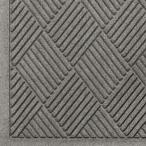 M+A Matting WaterHog Diamond   Commercial-Grade Entrance Mat with Fabric Border – Indoor/Outdoor, Quick Drying, Stain Resistant Door Mat (Medium Grey, 3' x 4')