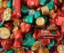 Christmas Hershey's Chocolate Candy Assortment - Kisses Dark Chocolate, Reese's Miniatures Cups, Hershey Reese's Bells, Kit Kat Miniatures Holiday Edition Milk Chocolate Candy (Pack of 3 Pounds)