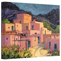 Art Wall Taos Pueblo Gallery Wrapped Canvas Art by Rick Kersten, 36 by 48-Inch