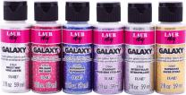 LaurDIY PROMOLDIY05 6 Color Galaxy Glitter Paint Set, Multicolor