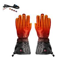 Venture Heat 12V Motorcycle Heated Gloves - Hybrid Cruiser Leather Riding Gloves