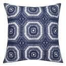 SLOW COW Cotton Embroidery Decorative Throw Pillow Cover Case for Couch Sofa Home Decor Modern Kaleidoscope Accent Pillow Cushion Cover 18 X 18 Inches Navy Blue