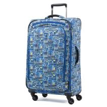 "Atlantic Luggage Atlantic Ultra Lite Softsides 25"" Expandable Spinner, watercolor blue"