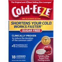 Cold-EEZE Cold Remedy Lozenges Pomegranate, 18 Count, Cold Remedy Sugar Free Lozenges, #1 Pharmacist Recommended Zinc Lozenge, Shortens Colds