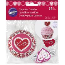 Wilton 415-5517 Valentine Baking Cups and Picks Set