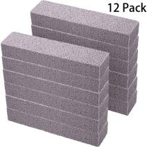 Pumice Stones for Cleaning - Pumice Scouring Pad, Grey Pumice Stick Cleaner for Removing Toilet Bowl Ring, Bath, Household, Kitchen, Pool, 5.9 x 1.4 x 0.9 Inch (12 Pieces)