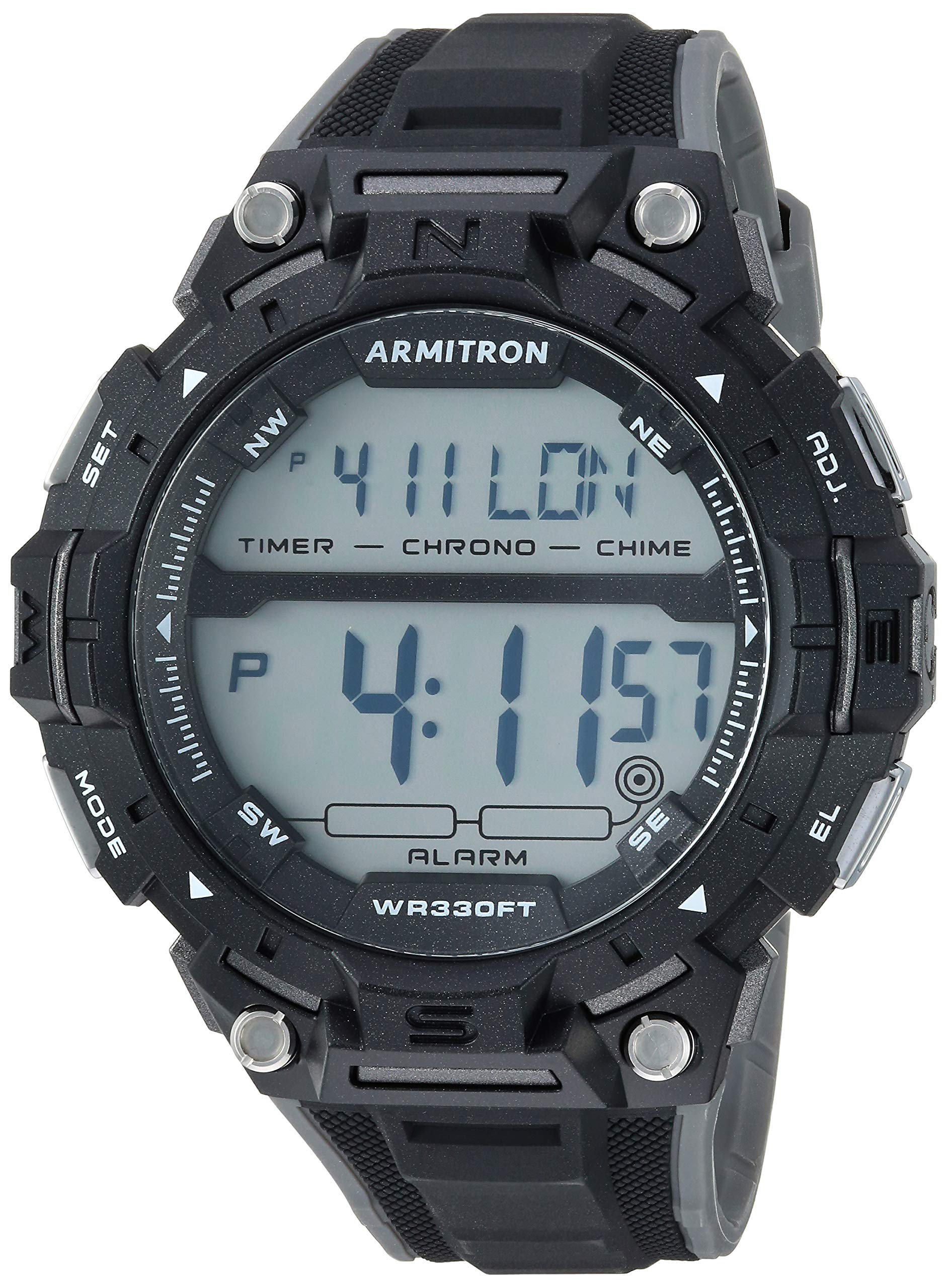 Armitron Sport Men's Digital Chronograph Resin Strap Watch, 40/8455