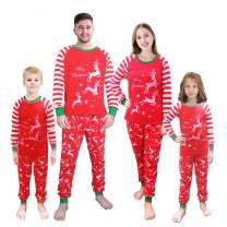 Christmas Matching Pajamas for Family Striped Xmas PJ Set Boys Girls Sleepwear Dad Mom 100% Cotton Clothes