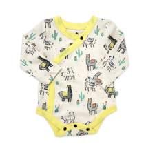 Finn + Emma Organic Cotton Long Sleeve Baby Bodysuit - Llamas - 9-12 Months