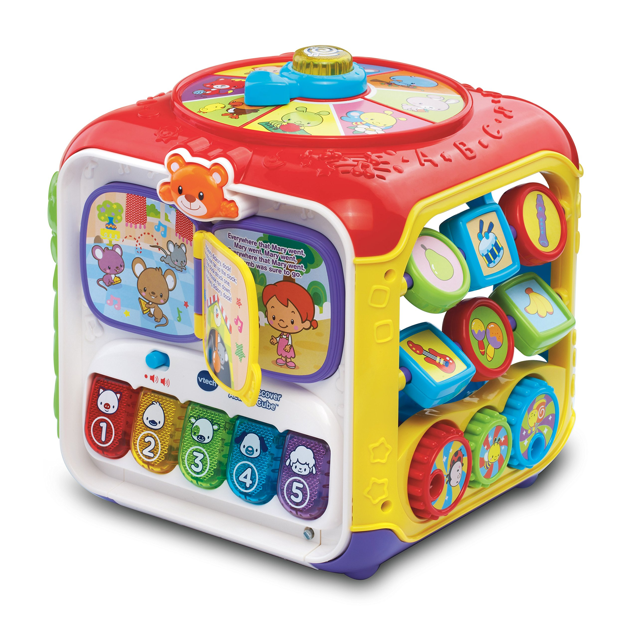 VTech Sort and Discover Activity Cube, Great Gift For Kids, Toddlers, Toy for Boys and Girls, Ages 1, 2, 3