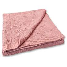 Zeke and Zoey Soft 100% Cotton Knit Pink Baby Blanket for Girls or Boys – Unisex, for Infant, Newborn, Toddler and Kids for Crib, Stroller, car, Receiving or Swaddle Blanket