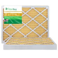 FilterBuy 16x36x1 MERV 11 Pleated AC Furnace Air Filter, (Pack of 4 Filters), 16x36x1 – Gold