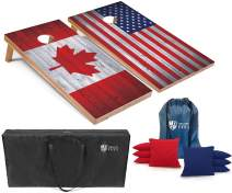 Tailgating Pros Regulation Flag Cornhole Board Sets Includes 8 Bean Bags and Carrying Totes 4'x2' Flag Toss Game Several Corn Hole Board Designs to Choose from!
