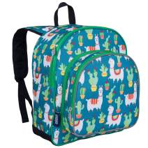 Wildkin 12 Inches Backpack for Toddlers, Boys and Girls, Ideal for Daycare, Preschool and Kindergarten, Perfect Size for School and Travel, Mom's Choice Award Winner, Olive Kids (Llamas and Cactus)