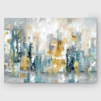 Renditions Gallery Abstract Landscape 'City Views II Art Wall Décor for Home, Office, Bedroom, Living Room, 24X32