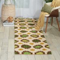 """Nourison Siam Ivory Runner Area Rug, 2-Feet 3-Inches by 7-Feet 6-Inches (2'3"""" x 7'6"""")"""