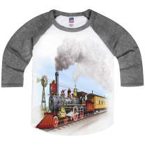 Shirts That Go Little Boys' Old West Steam Train Raglan T-Shirt