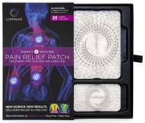 Relief Patches Charged by LUMINAS, Fast Acting and Long Lasting, 24 Pack (White, Gentle Adhesive)