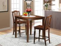 3 Pc Dining counter height set-pub Table and 2 dinette Chairs.