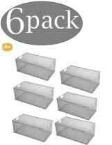 YBM HOME Household Wire Mesh Open Bin Shelf Storage Basket Organizer for Kitchen, Cabinet, Fruits, Vegetables, Pantry Items Toys 2318s-6 (6, 15.5 x 8 x 6.1)
