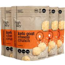 HighKey Snacks Cheese Crunch – Goat Cheese & Egg White High Protein Cheese Crisps, Pack of 4, 2oz Bags – Keto Friendly, Gluten Free, Low Carb, Healthy Snack – Ketogenic Food with Natural Ingredients