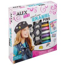 Alex DIY Paint and Wear Enamel Pins Kids Art and Craft Activity
