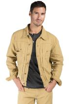 Level 7 Men's Cotton Canvas Trucker Jacket Timber Color Heavy Rugged Wash Size L Timber