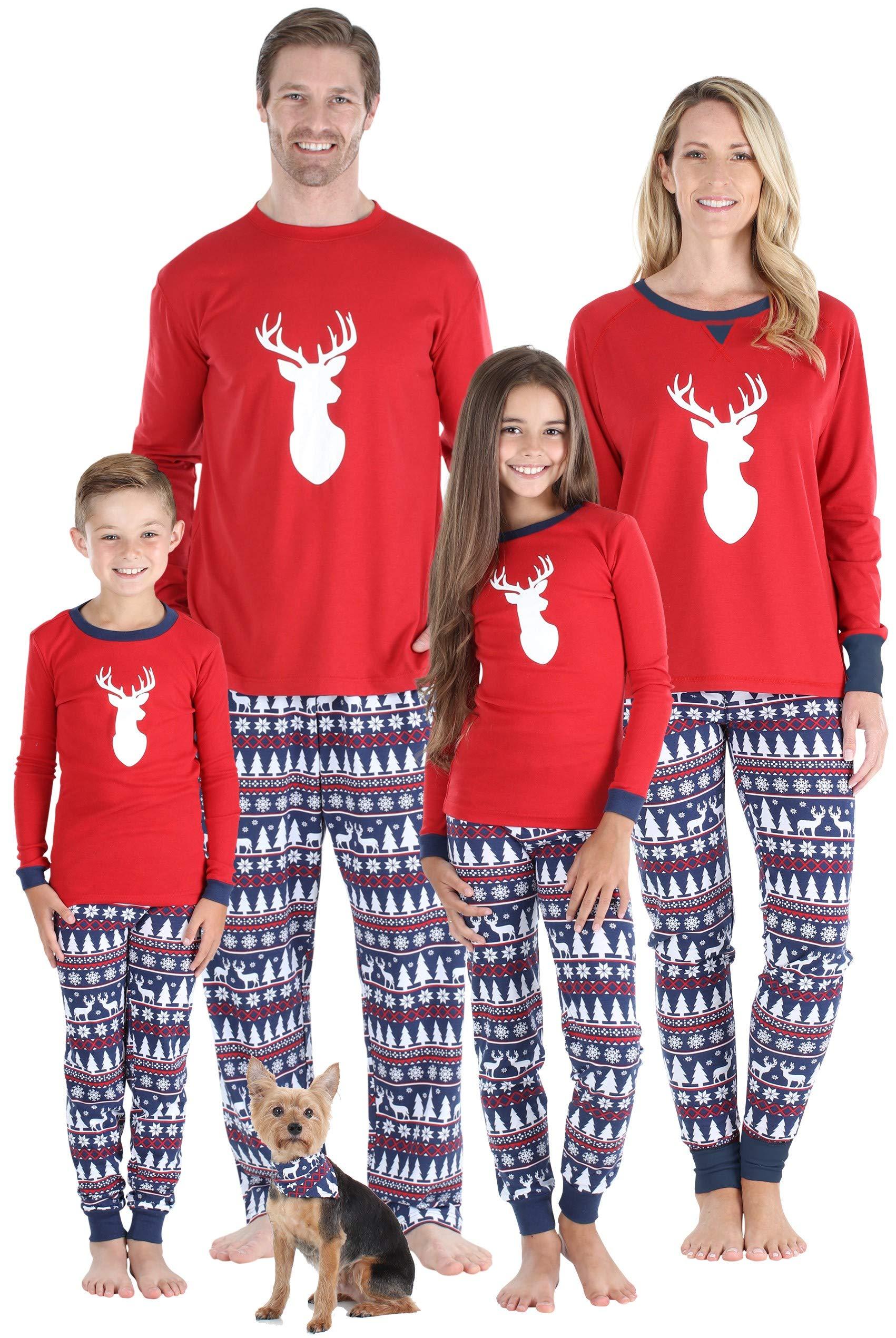 Sleepyheads Matching Family Christmas Pajama Sets, Red