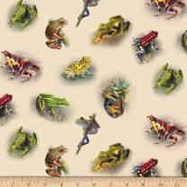 Elizabeth's Studio Amazing Assorted Frogs, Cream Yard