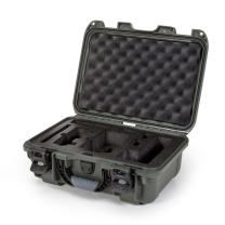 Nanuk Drone Waterproof Hard Case with Custom Foam Insert for DJI Mavic Air Fly More Combo - Olive